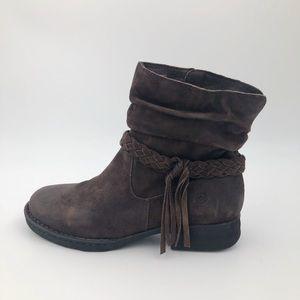 Born ABERNATH Brown Boots Leather 7.5 Trendy Boho